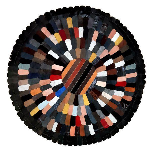کلاژ فرش چرم و پوست کد 2012