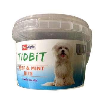 غذای تشویقی سگ تیدبیت مدل Beef & Mint  وزن 180 گرم