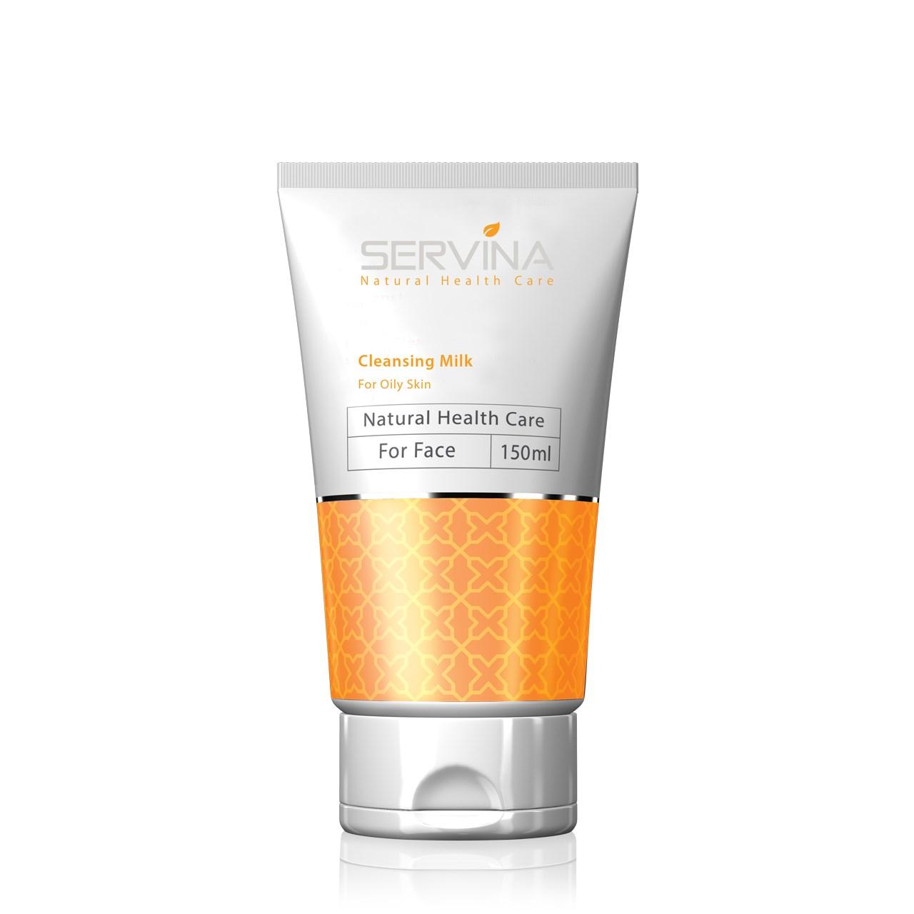 قیمت لوسیون پاک کننده آرایش صورت سروینا مدل Oily Skin حجم 150 میلی لتر