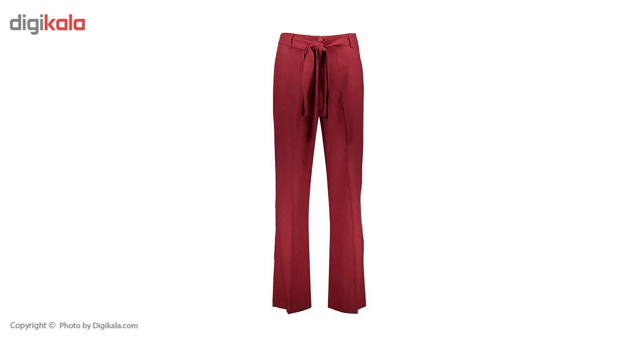 شلوار زنانه دمپا گشاد پارچه ای  قرمز مدل 231 -  - 1