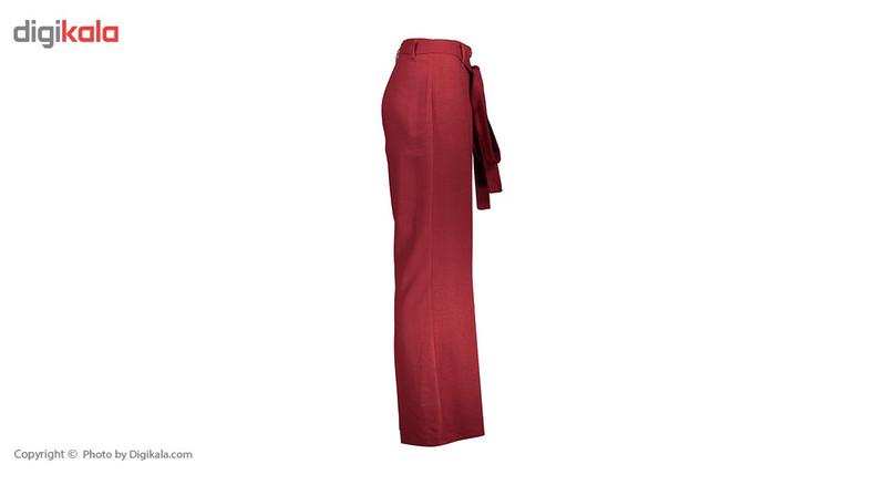 شلوار زنانه دمپا گشاد پارچه ای  قرمز مدل 231