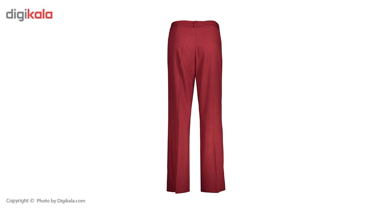شلوار زنانه دمپا گشاد پارچه ای  قرمز مدل 231 -  - 4