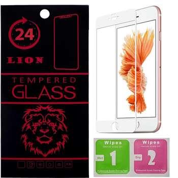 محافظ صفحه نمایش تمام چسب شیشه ای لاین مدل 5D مناسب برای گوشی اپل آیفون 6/6s