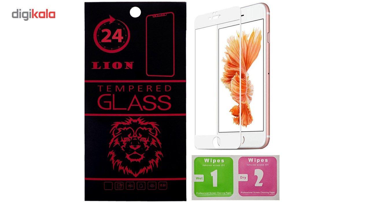 محافظ صفحه نمایش تمام چسب شیشه ای لاین مدل 5D مناسب برای گوشی اپل آیفون 6/6s main 1 1