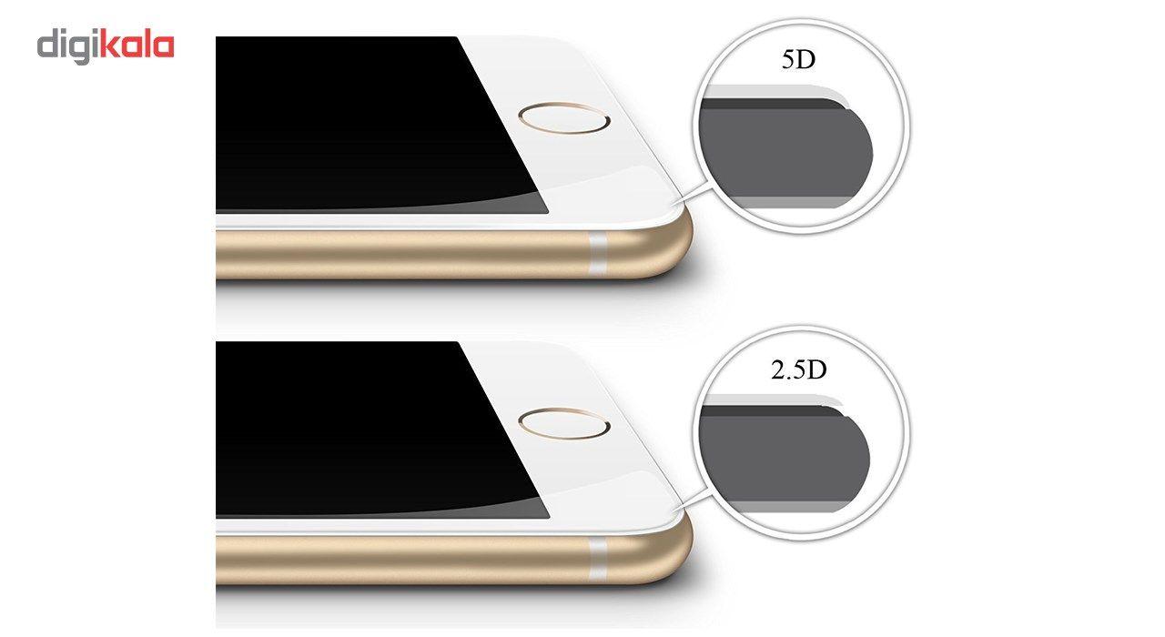 محافظ صفحه نمایش تمام چسب شیشه ای لاین مدل 5D مناسب برای گوشی اپل آیفون 6/6s main 1 2