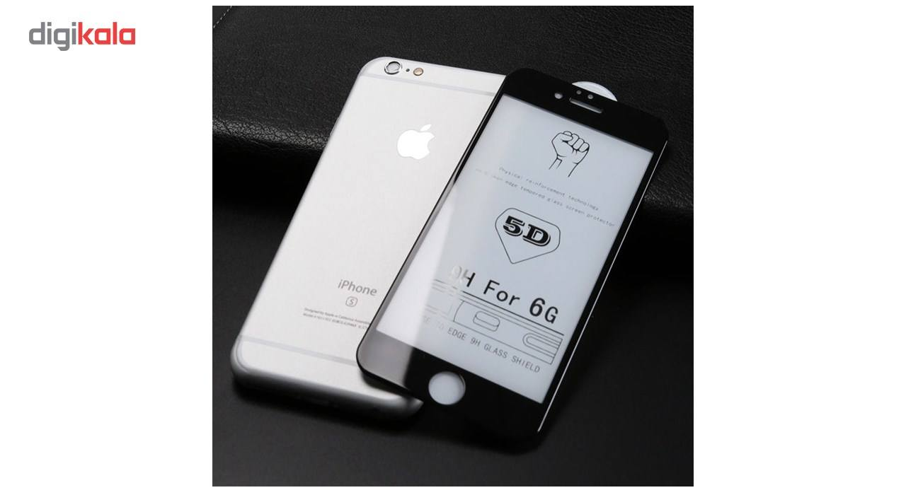 محافظ صفحه نمایش تمام چسب شیشه ای لاین مدل 5D مناسب برای گوشی اپل آیفون 6/6s main 1 3