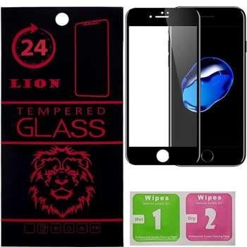 محافظ صفحه نمایش تمام چسب شیشه ای لاین مدل 5D مناسب برای گوشی اپل آیفون7 پلاس