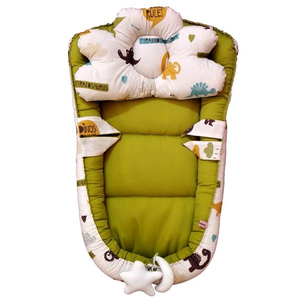 سرویس 3 تکه خواب نوزادی تاپ دوزانی مدل ژوراسیک
