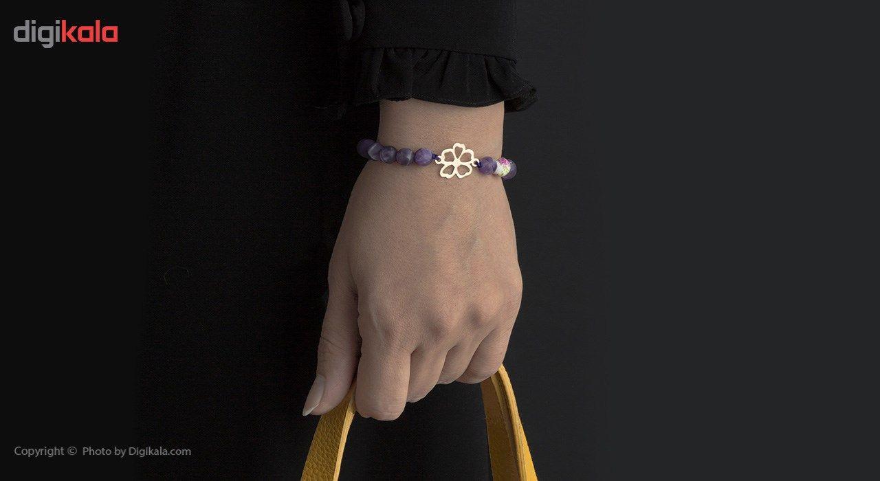 دستبند طلا 18 عیار ماهک مدل MB0317 -  - 4