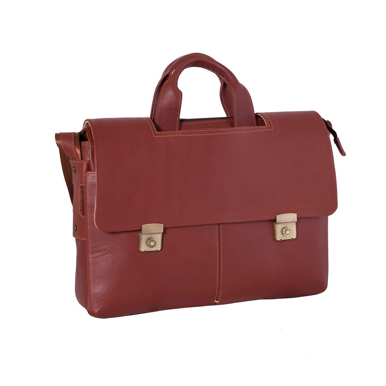 کیف اداری چرم طبیعی آدین چرم مدل DL42