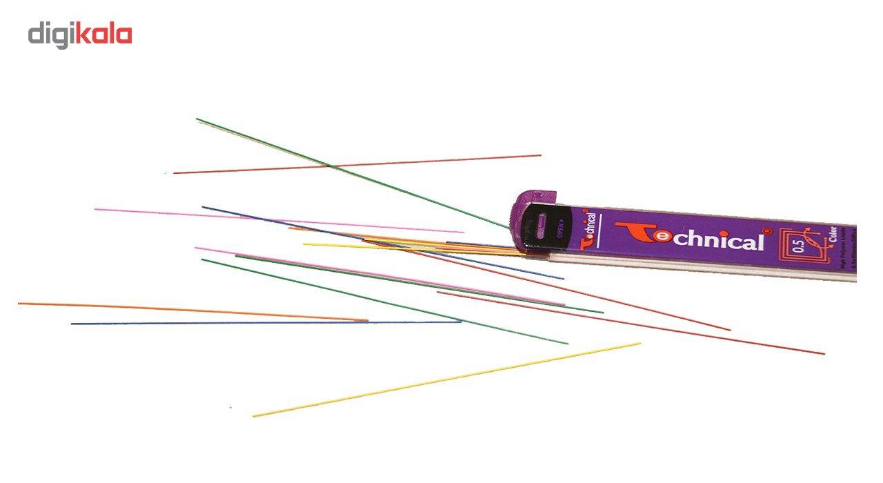 نوک مداد نوکی 0.5 میلی متری تکنیکال مدل رنگی 20 عددی main 1 1