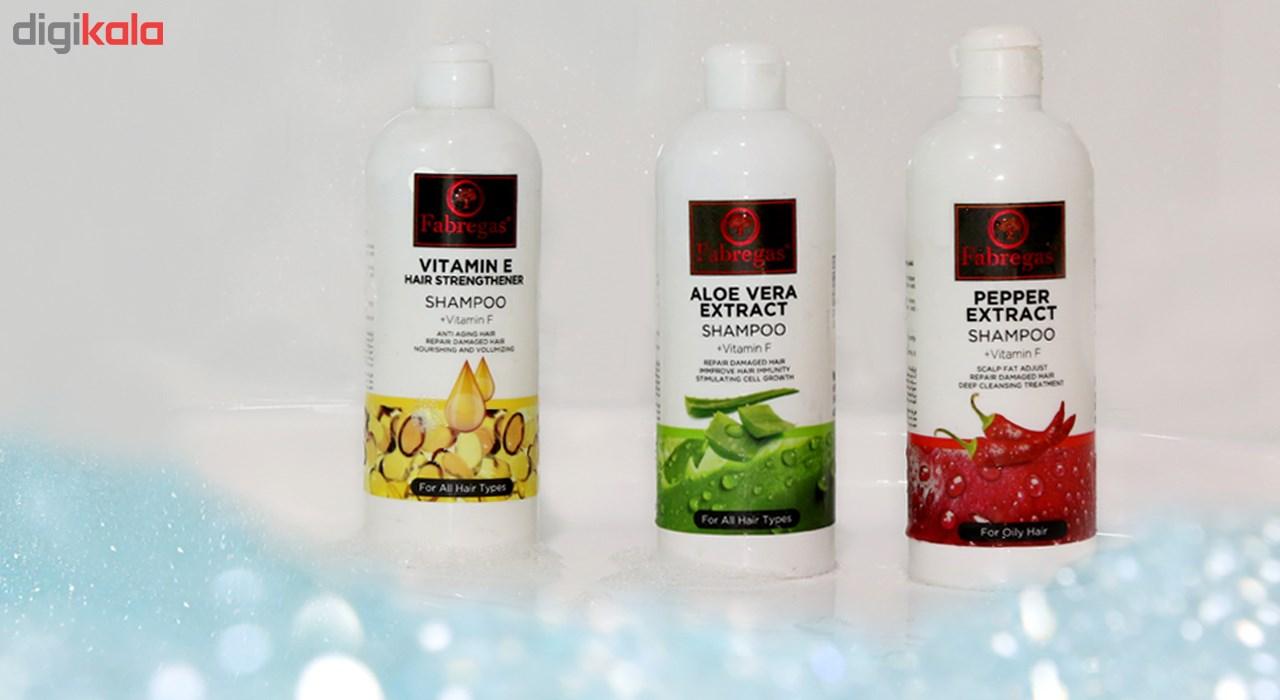 شامپو مو ترمیم کننده فابریگاس مدل Vitamin E حجم 400 میلی لیتر main 1 2