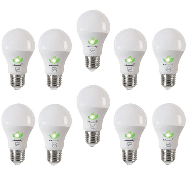 لامپ ال ای دی حبابی 5  وات  آینده بسته 10 عددی با پایه E27