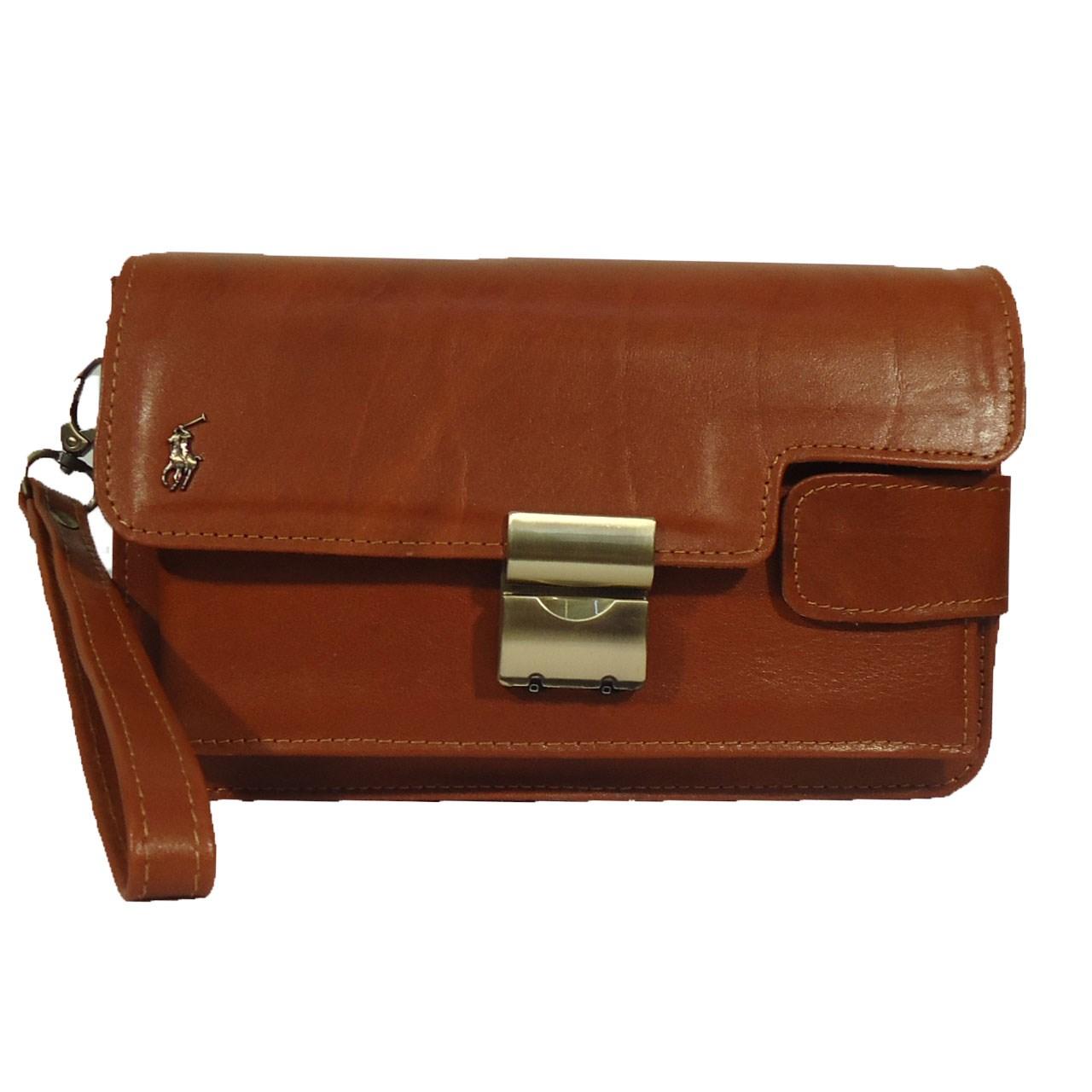 قیمت کیف پاسپورتی چرم  مردانه سالار مدل E157