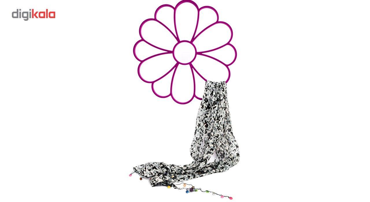 آویز شال و روسری دیارا مدل Flower main 1 8