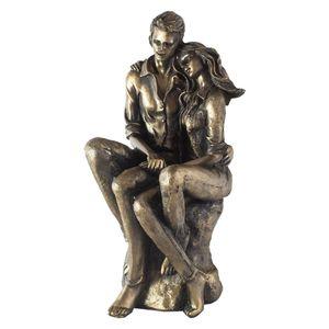 مجسمه زوج نشسته کد AL-20020173