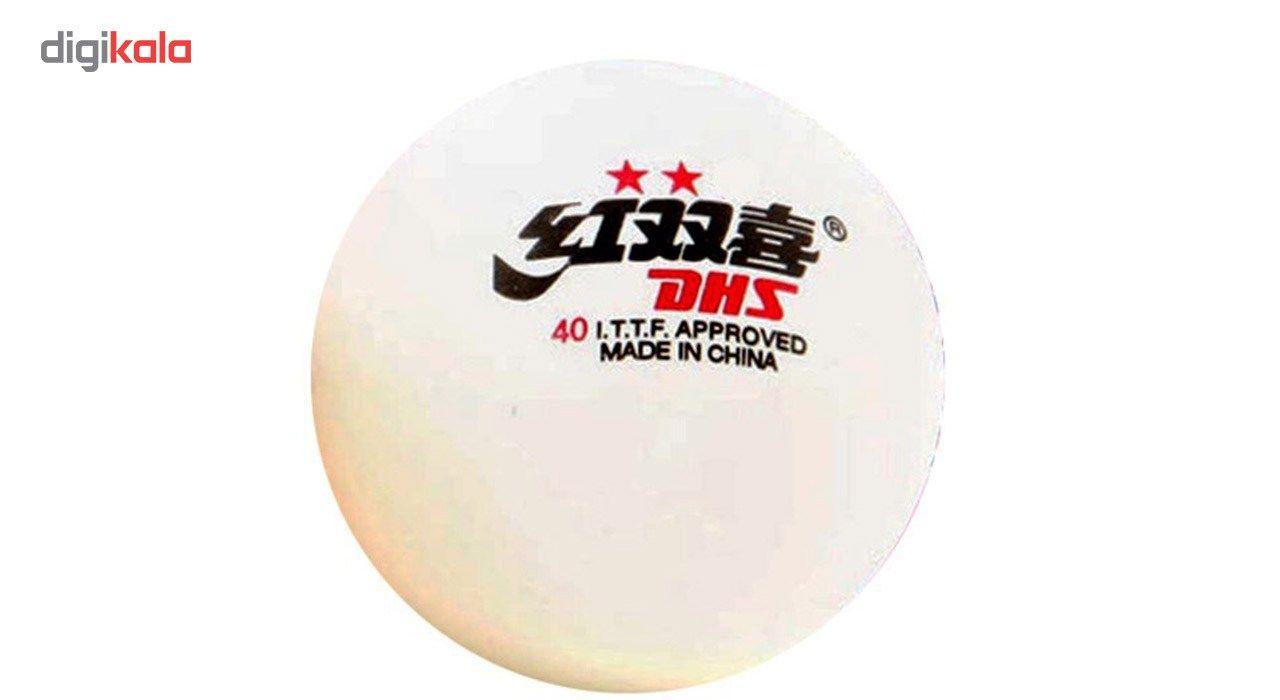 توپ پینگ پنگ دی اچ اس مدل 2 Star بسته 6 عددی  Dhs 2 Star Ping Pong Ball 6 PCS