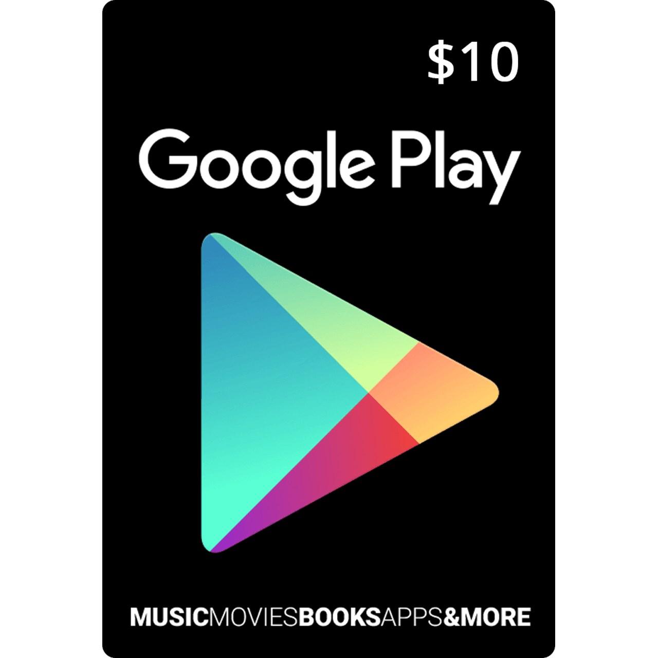 گیفت کارت 10 دلاری گوگل پلی آمریکا