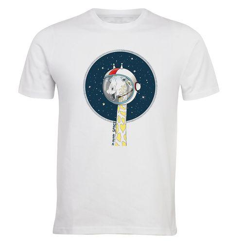 تیشرت آستین کوتاه الینور طرح زرافه فضانورد مدلELTM 445