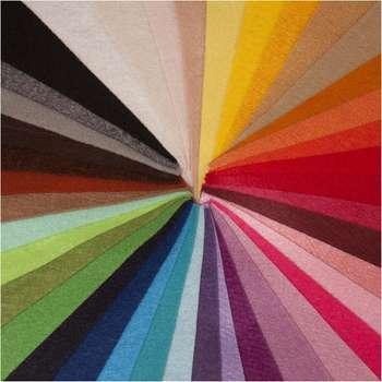 بسته ی 40 رنگ نمد ایرانی هنری ساز کد 1305