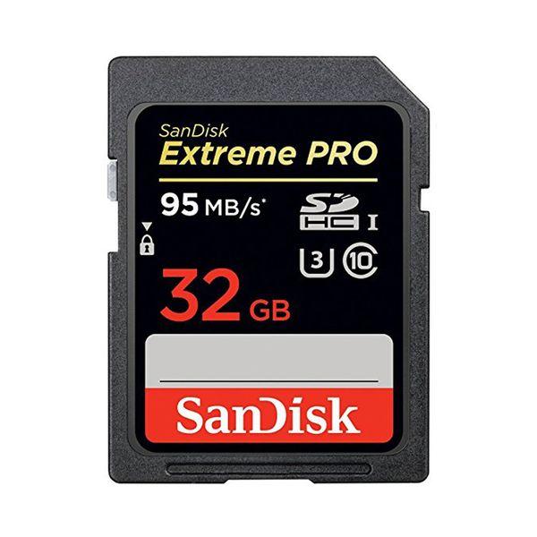 کارت حافظه SDHC سن دیسک مدل Extreme Pro کلاس 10 استاندارد UHS-I U3 سرعت 633X 95MBps ظرفیت 32 گیگابایت | SanDisk Extreme Pro UHS-I U3 Class 10 633X 95MBps SDHC - 32GB