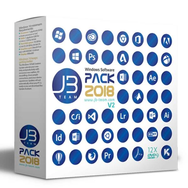مجموعه نرم افزار های کاربردی و تخصصی JB Pack 2018 v2 نشر جی بی
