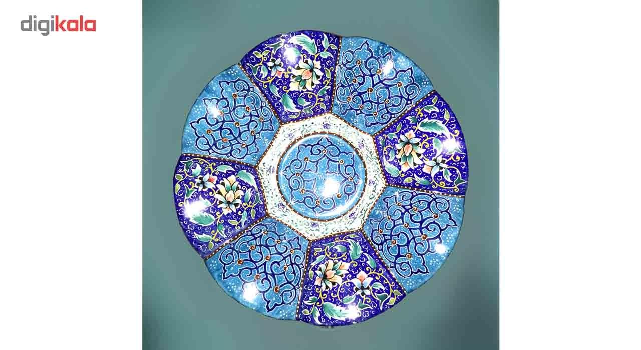 شیرینی خوری مسی میناکاری گالری آسمانی طرح باغ بهشت مدل Conf-4