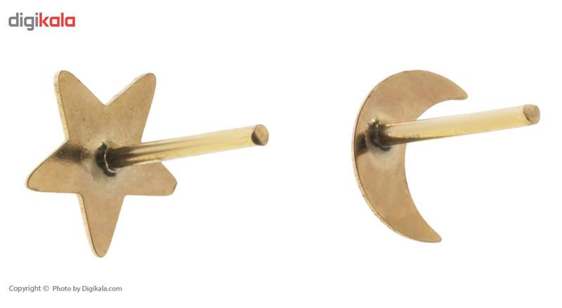 گوشواره طلا 18 عیار رزا مدل EG116