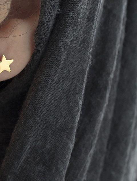 گوشواره طلا 18 عیار رزا مدل EG116 -  - 3