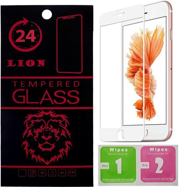 محافظ صفحه نمایش تمام چسب شیشه ای لاین مدل 5D مناسب برای گوشی اپل آیفون 6 پلاس/ 6s پلاس