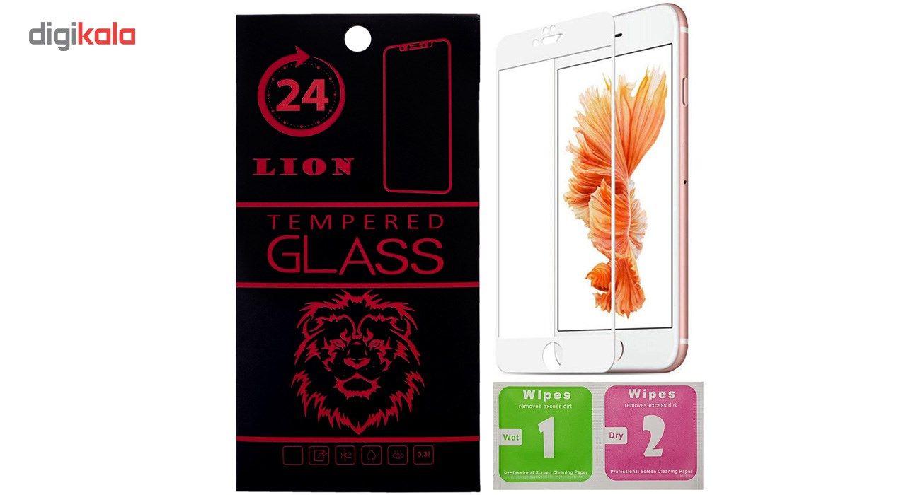 محافظ صفحه نمایش تمام چسب شیشه ای لاین مدل 5D مناسب برای گوشی اپل آیفون 6 پلاس/ 6s پلاس main 1 1