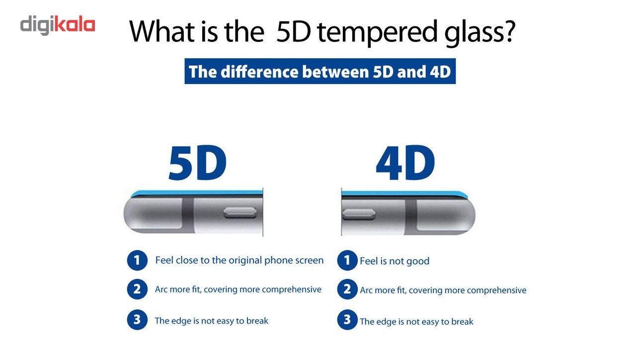 محافظ صفحه نمایش تمام چسب شیشه ای لاین مدل 5D مناسب برای گوشی اپل آیفون 6 پلاس/ 6s پلاس main 1 2