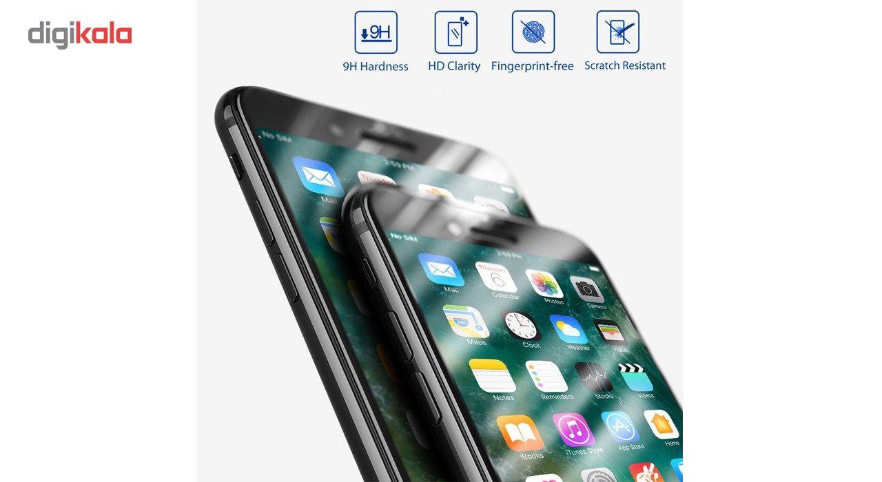 محافظ صفحه نمایش تمام چسب شیشه ای لاین مدل 5D مناسب برای گوشی اپل آیفون 6 پلاس/ 6s پلاس main 1 6