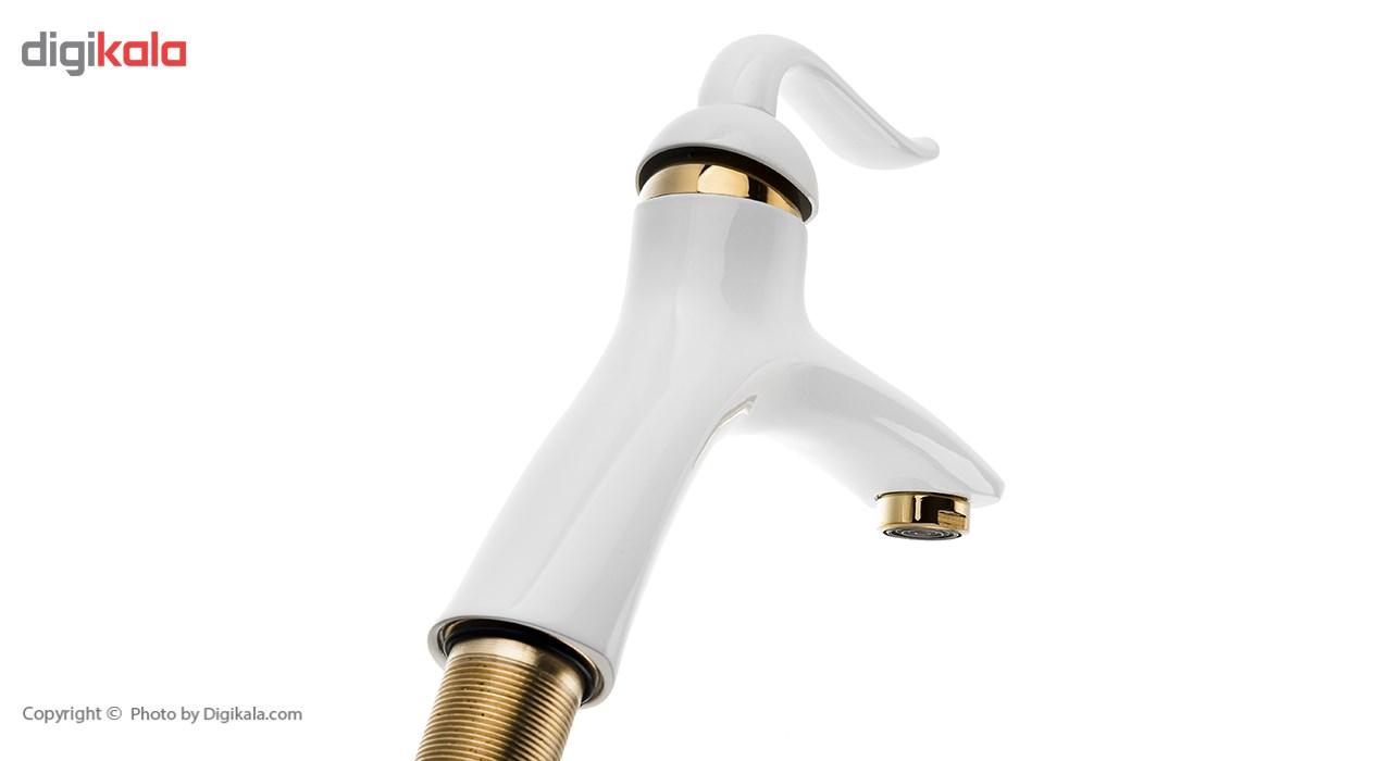شیر روشویی ماهرخ مدل دیانا سفید طلایی
