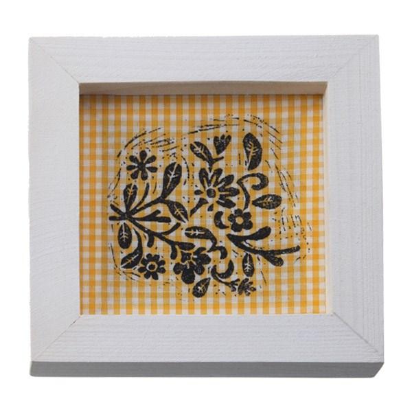 تابلو چوبی چاپ دستی روی پارچه گالری هور نقش 16