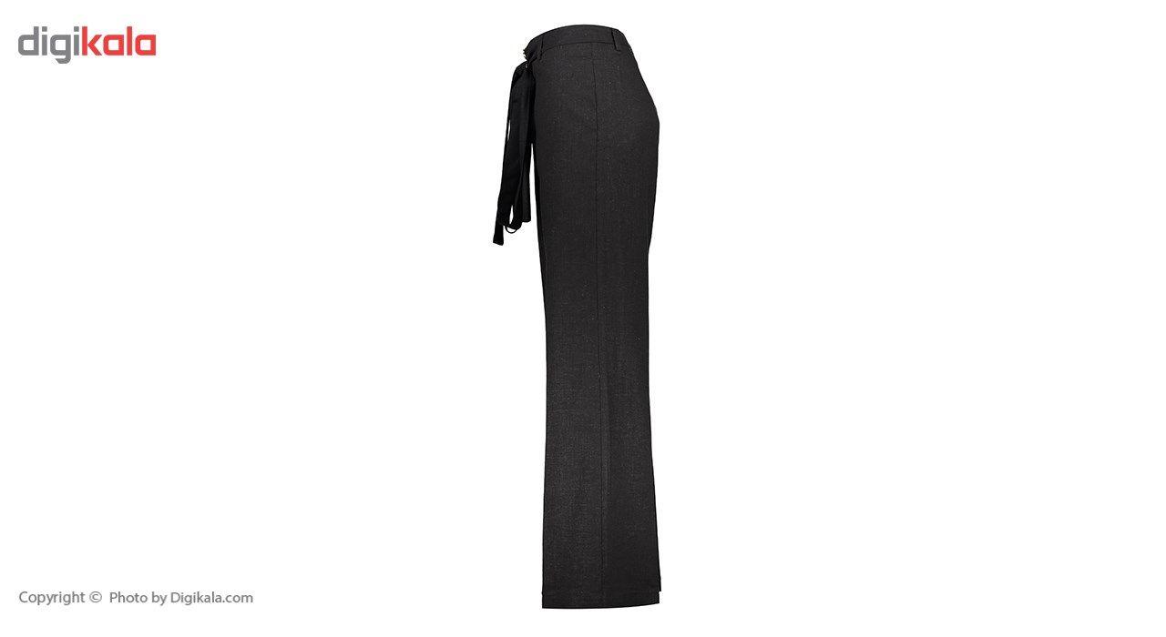 شلوار زنانه دمپا گشاد پارچه ای  مشکی مدل 231 -  - 1