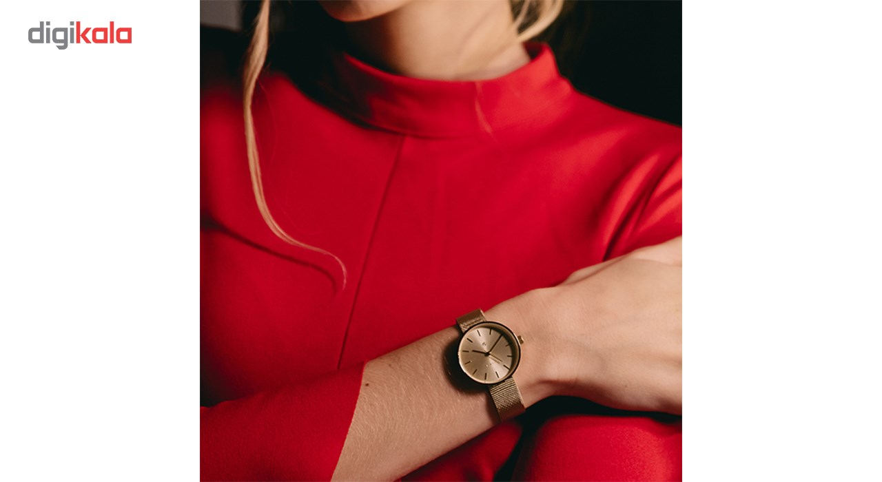 ساعت زنانه برند نیوگیت مدل The Atom Gold Mesh Bracelet
