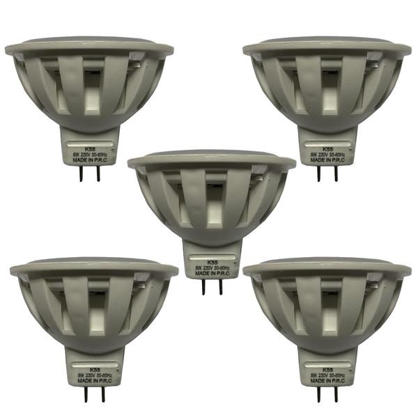 لامپ ال ای دی 5 وات کد هالوژن MR16 پایه GU5.3 بسته 5 عددی