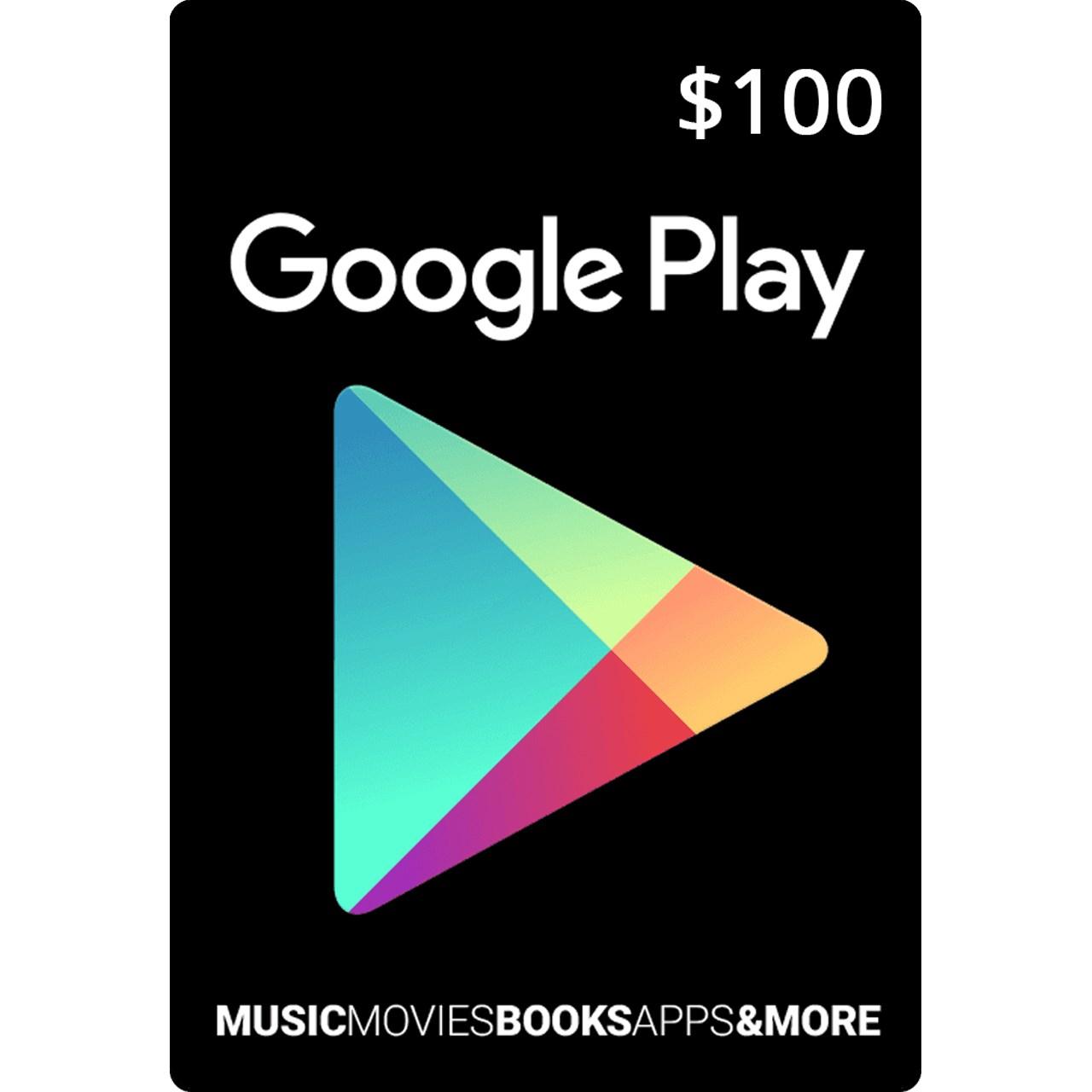 گیفت کارت 100 دلاری گوگل پلی آمریکا