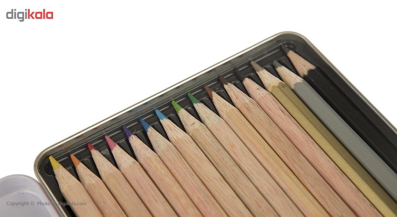 مداد رنگی 12+3 رنگ آریا مدل 3021 main 1 4