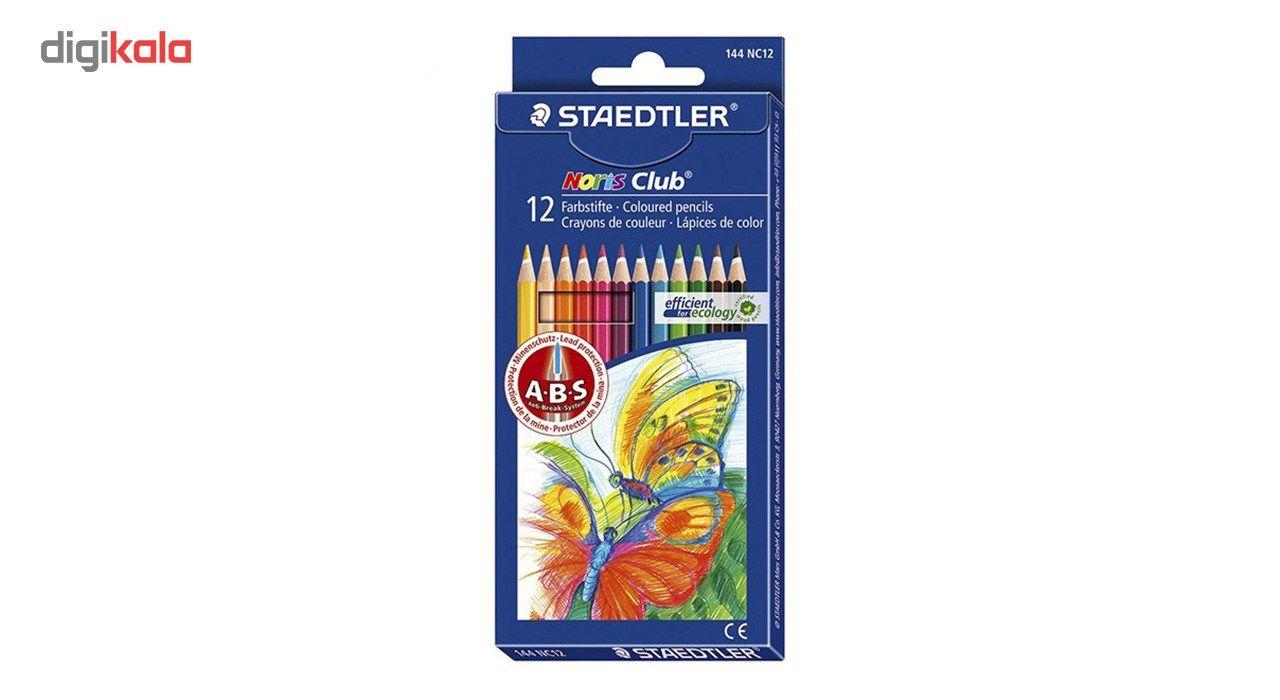 مداد رنگی 12 رنگ استدلر مدل Noris Club main 1 1