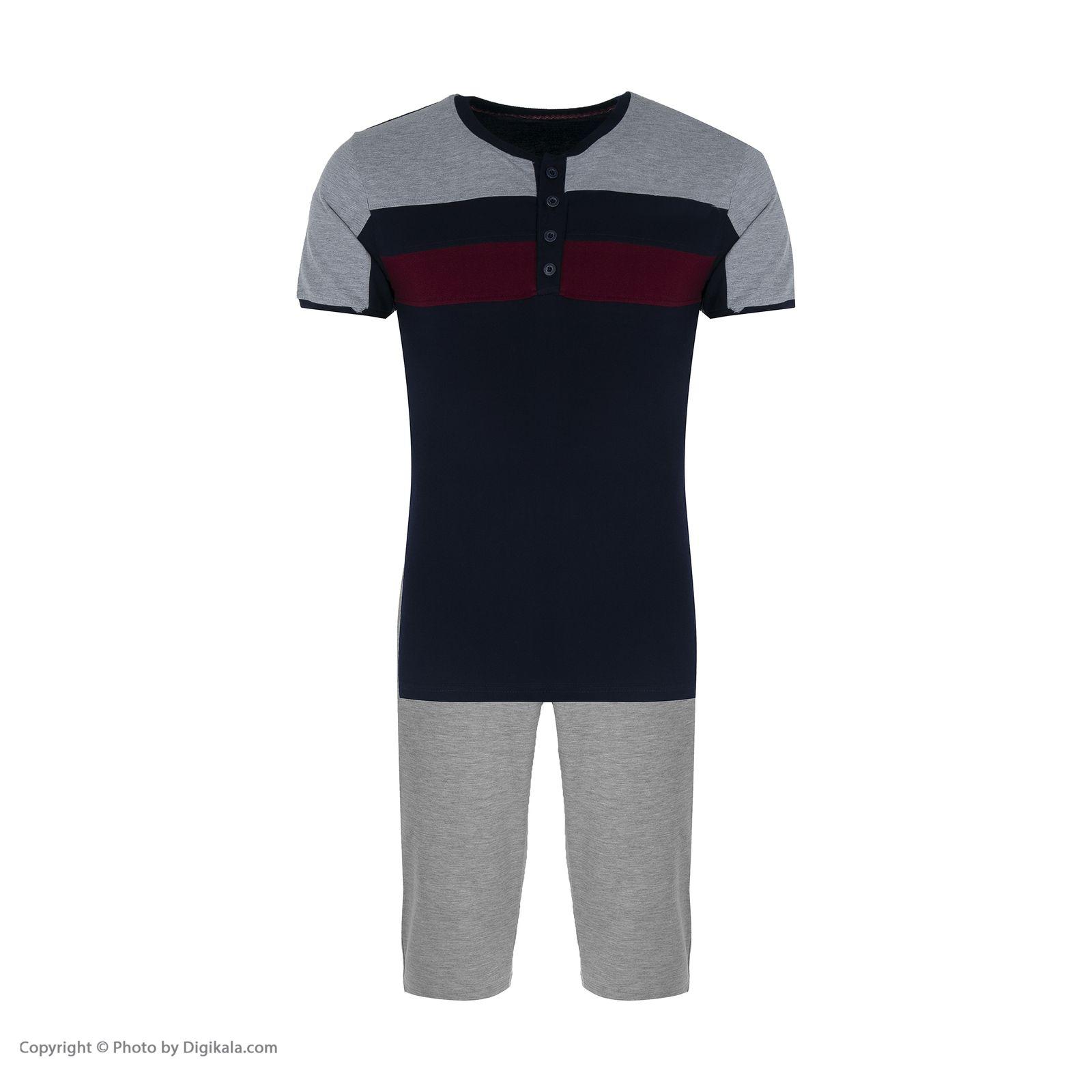 ست تی شرت و شلوار مردانه آسوده کد 0240 رنگ مشکی -  - 11