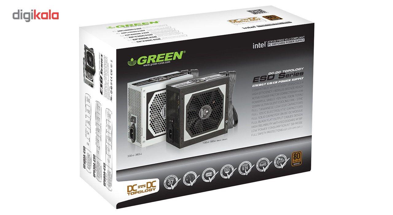منبع تغذیه کامپیوتر گرین مدل GP330A-ESD main 1 5