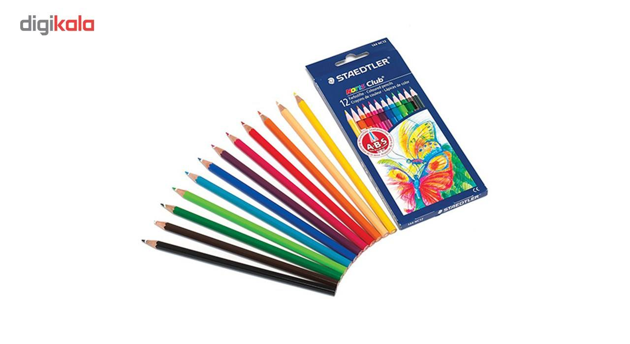 مداد رنگی 12 رنگ استدلر مدل Noris Club main 1 5