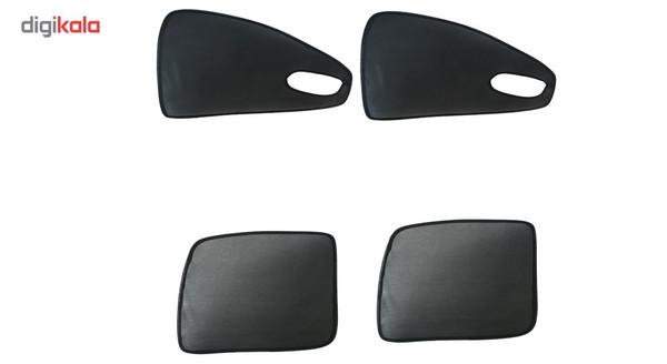 آفتابگیر خودرو مدل کارسین مناسب برای خودروی پژو 405 بسته دو جفتی