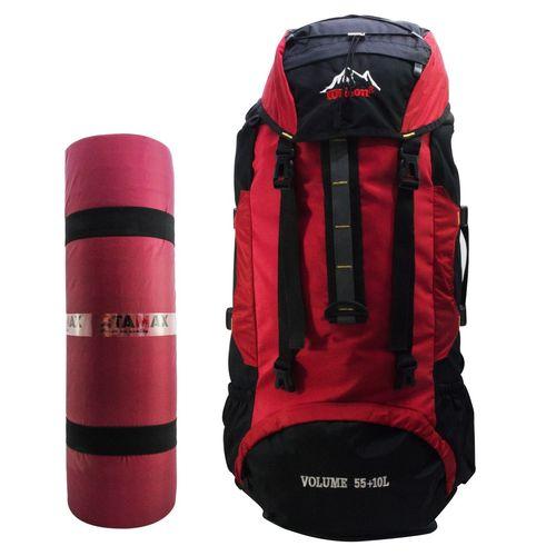 کوله پشتی کوهنوردی ظرفیت 65 لیتر همراه با  زیرانداز TAMAX