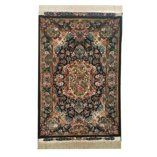 فرش دستبافت تمام ابریشم زرع و نیم مدل سالاری کد 6775
