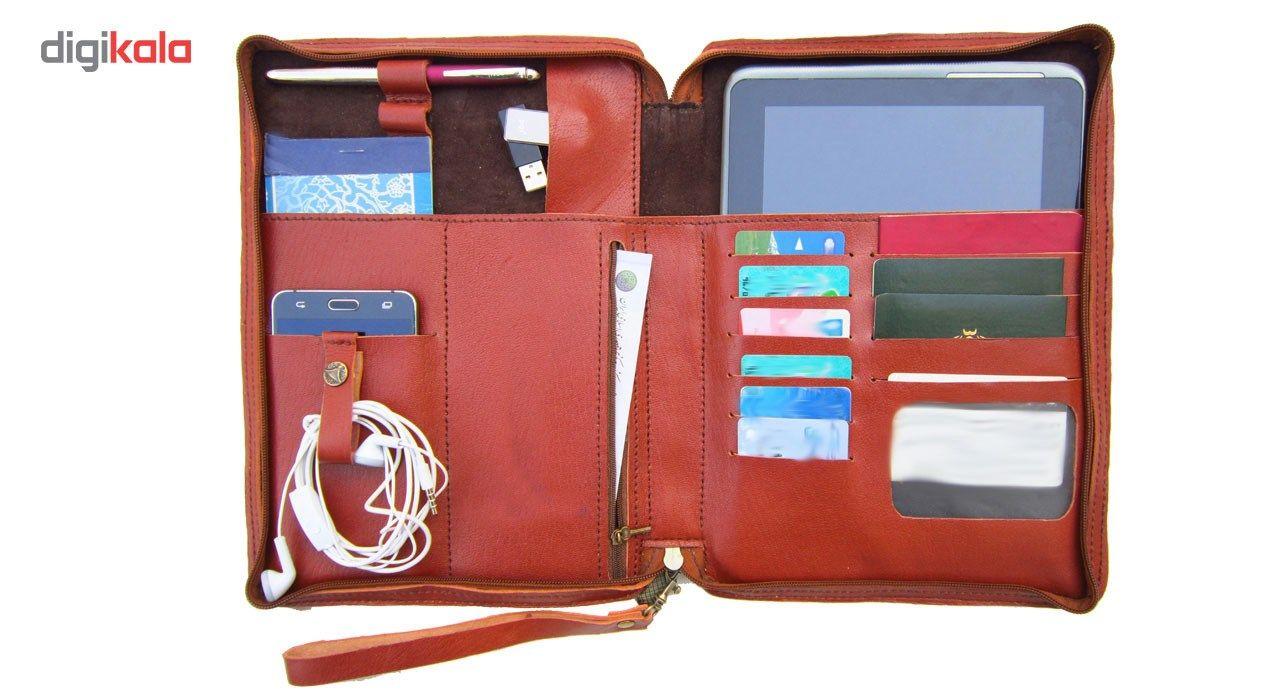 کیف دستی مدیریتی  چرم طبیعی دستدوز مژی مدل MSH main 1 3
