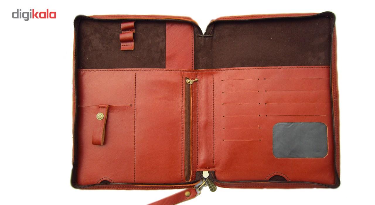کیف دستی مدیریتی  چرم طبیعی دستدوز مژی مدل MSH main 1 4