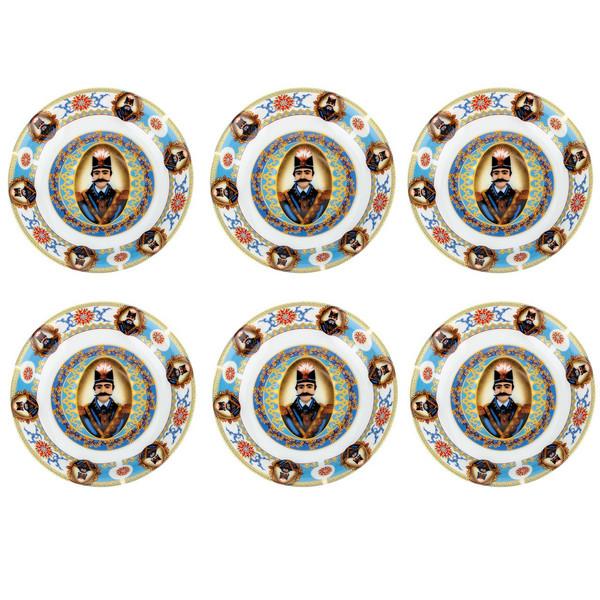 نعلبکی مدل واتسون طرح  6 گل ناصری کد600 بسته 6 عددی